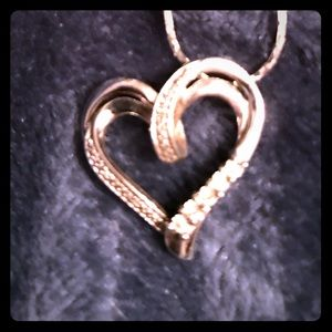 White gold diamond necklace 10k. Came from Zales